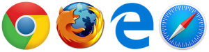 Compatible: Chrome | Firefox | Internet Explorer & Edge | Safari
