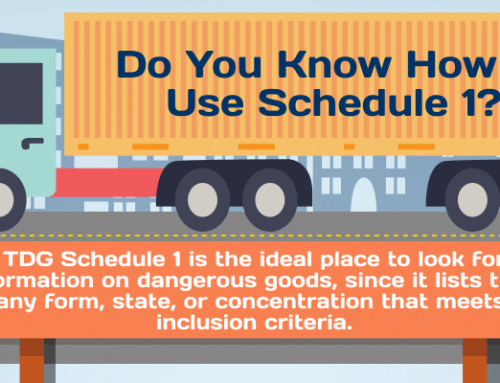 InfoGraphic: How to Use TDG – Schedule 1