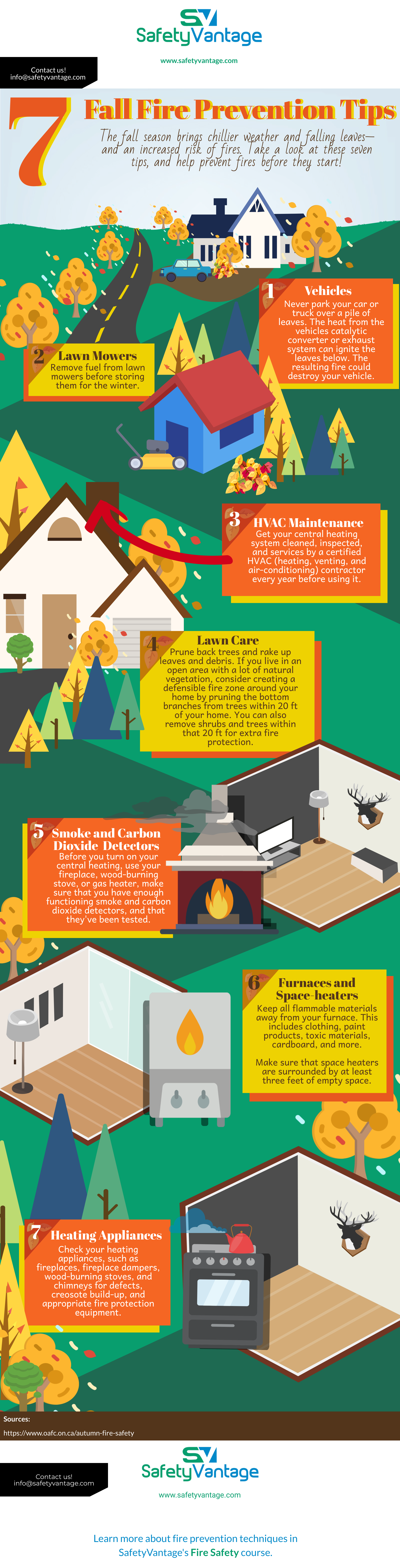 InfoGraphic: Fall Fire Prevention Tips - During the Fall there's an increased risk of fires. Take a look at these seven tips and help prevent fires before they start.
